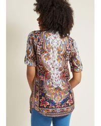 ModCloth - Multicolor Back Road Ramble Cotton Tunic In Multi Paisley - Lyst