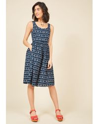 Sugarhill | Blue Mast Appeal Midi Dress | Lyst