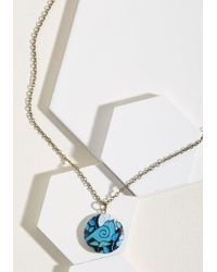 ModCloth | Blue Locket Like It's Hot Necklace | Lyst