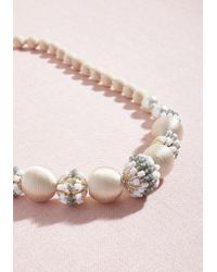 ModCloth - Natural Gotta-have Glam Beaded Necklace In Ivory - Lyst
