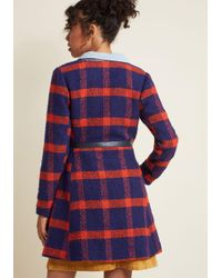 ModCloth - Blue Retro Tailored A-line Coat - Lyst