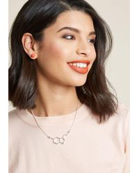 ModCloth - Metallic Neurotransmit Your Love Necklace In Silver - Lyst