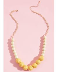 ModCloth - Yellow Do As You're Bold Necklace - Lyst