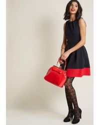 ModCloth | Luck Be A Lady A-line Dress In Black & Red | Lyst