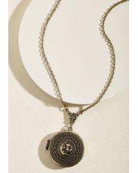 ModCloth - Metallic Celestial Essence Locket Necklace - Lyst