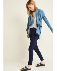ModCloth - Blue Airport Greeting Cardigan - Lyst