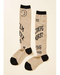 ModCloth - Natural I Get The Message Knee Socks - Lyst