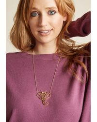 ModCloth - Metallic Geo Stampede Pendant Necklace - Lyst
