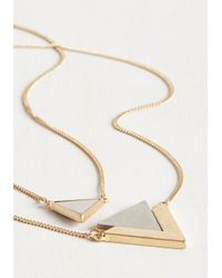 Ana Accessories Inc | Metallic Tri As You May Necklace | Lyst
