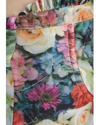 Wildfox - Green Fairy Wall Ruffle Swimsuit - Lyst