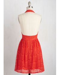 She + Sky - Red All Inspiring Dress In Scarlet - Lyst