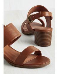 Shoe Magnate Inc - Brown A Necessary Sequel Sandal In Cognac - Lyst