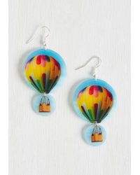 Beijo Brasil - Blue Step Flight Up Earrings - Lyst