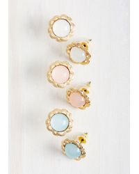 Ana Accessories Inc - Metallic Hello, Retro Earring Set - Lyst