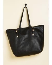 ModCloth - Black Posh Preparedness Tote Bag - Lyst