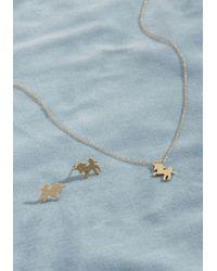 ModCloth - Metallic Low-key Legendary Unicorn Necklace And Earring Set - Lyst