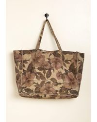 ModCloth - Brown Necessary Refresh Suede Tote Bag - Lyst