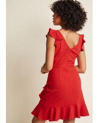 ModCloth - Red Resounding Ruffles A-line Dress - Lyst