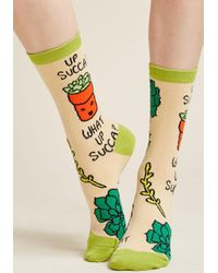 ModCloth | Natural Seedlings And Salutations Socks | Lyst