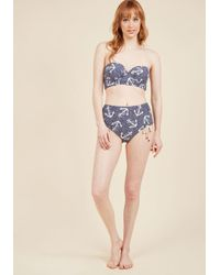 Betsey Johnson - Blue Show The Ropes Swimsuit Top - Lyst