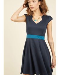 ModCloth - Blue The Story Of Citrus A-line Dress In Navy - Lyst