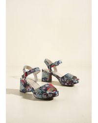 ModCloth - Multicolor Brocade On Parade Block Heel - Lyst
