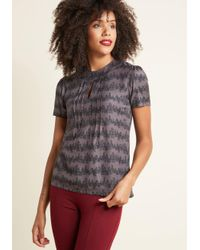 ModCloth - Multicolor Yard Work And Dedication Top In Conifers - Lyst