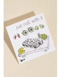 ModCloth | White Do Sushi What I See? Earring Set | Lyst
