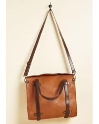 ModCloth - Multicolor Camp Director Tote In Caramel - Lyst