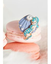 Irregular Choice - Blue Deep Sea Darling Adjustable Ring By From Modcloth - Lyst