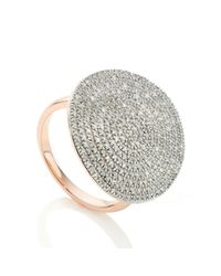 Monica Vinader | Pink Ava Diamond Disc Cocktail Ring | Lyst