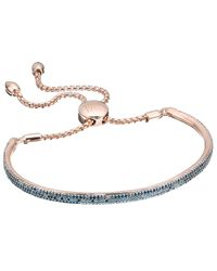 Monica Vinader | Pink Fiji Blue Diamond Bar Bracelet | Lyst