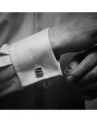 Monica Vinader - Black Stone Square Cufflinks for Men - Lyst