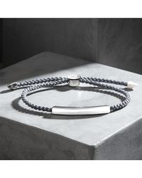 Monica Vinader - Gray Linear Men's Friendship Bracelet for Men - Lyst