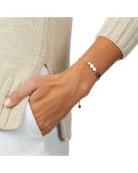 Monica Vinader - Pink Linear Bead Friendship Chain Bracelet - Lyst