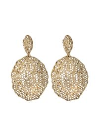 Aurelie Bidermann - Metallic Lace Pendant Earrings - Lyst