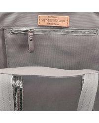 Vanessa Bruno - Gray Canvas And Sequins Medium + Tote Bag In Parma Cotton - Lyst