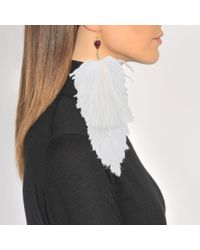 Sonia Rykiel - Multicolor Earrings Feathers - Lyst