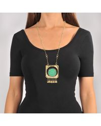 Aurelie Bidermann - Multicolor Untitled Necklace With Turquoise - Lyst