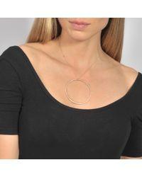 Ginette NY - Metallic Jumbo Diamond Circle On Chain Necklace - Lyst