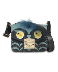 Furla - Multicolor Metropolis Jungle Mini Crossbody Bag In Toni Blu Ares Leather - Lyst