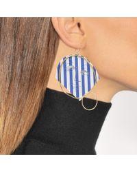J.W. Anderson - Blue Moon Face Earrings In Sapphire Eco Brass - Lyst