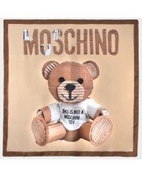 Moschino - Multicolor Teddy Bear Silk Square Runway - Lyst