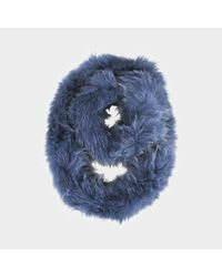 Yves Salomon - Blue Knitted Scarf Fox - Lyst