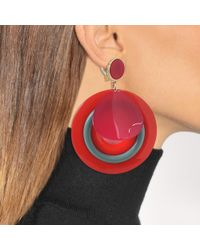 Giorgio Armani - Plexi Earrings In Red Acetate - Lyst