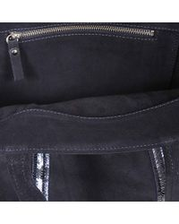 Vanessa Bruno - Black Leather And Sequins Medium Tote Bag In Denim Blue Cowhide - Lyst