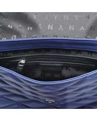 DKNY - Gray Diamond Quilted Medium Flap Shoulder Bag - Lyst