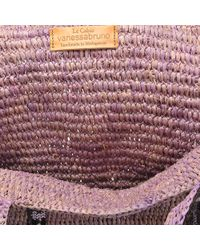Vanessa Bruno - Purple Raffia And Sequins Medium + Tote - Lyst
