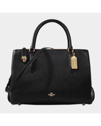 COACH - Black Brooklyn 34 Carryall Bag - Lyst