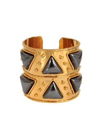 Sylvia Toledano - Metallic Triangles Cuff - Lyst